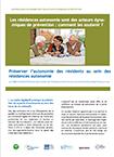 Les résidences autonomie sont des acteurs dynamiques de prevention : comment les soutenir ?